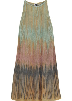 M Missoni Woman Metallic Crochet-knit Dress Mustard
