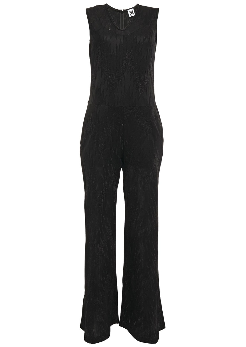 M Missoni Woman Metallic Crochet-knit Jumpsuit Black