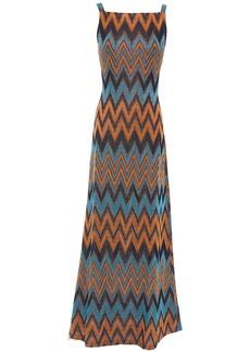 M Missoni Woman Metallic Crochet-knit Maxi Dress Black