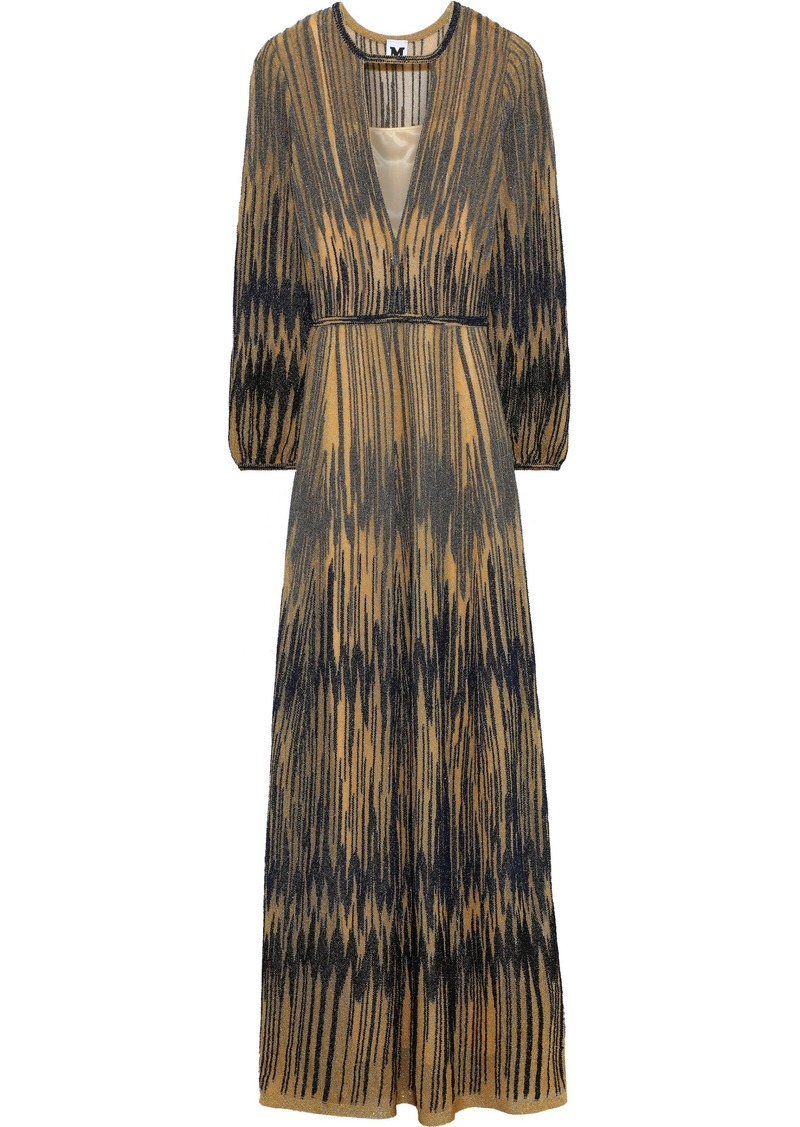 M Missoni Woman Metallic Crochet-knit Maxi Dress Gold