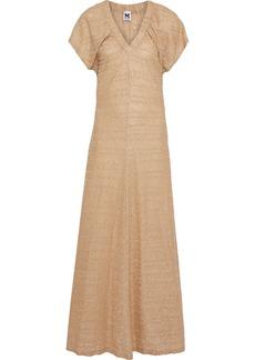 M Missoni Woman Metallic Crochet-knit Maxi Dress Gold