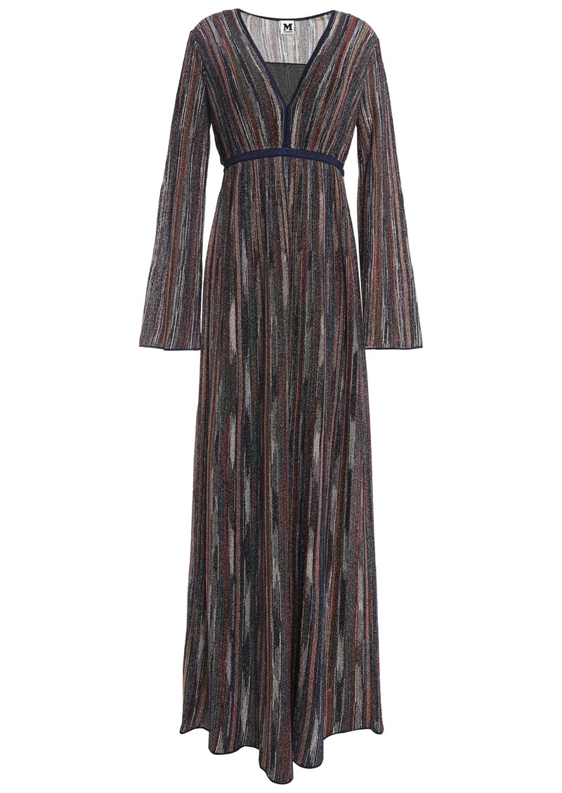 M Missoni Woman Metallic Crochet-knit Maxi Dress Navy