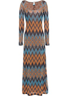M Missoni Woman Metallic Crochet-knit Maxi Dress Orange