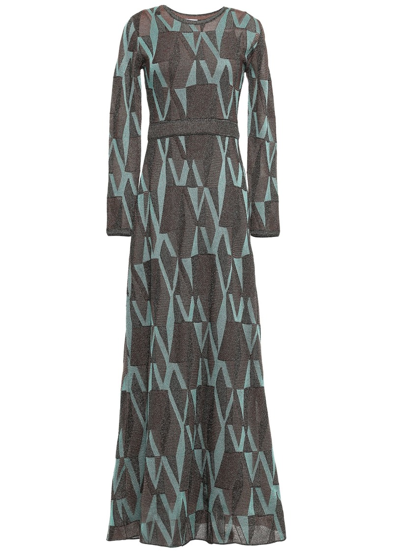 M Missoni Woman Metallic Crochet-knit Maxi Dress Teal