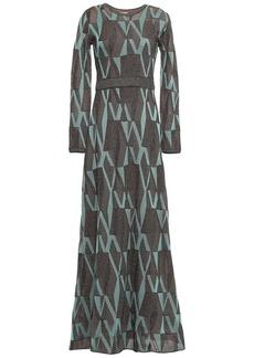 M Missoni Woman Metallic Crochet-knit Maxi Dress Teal