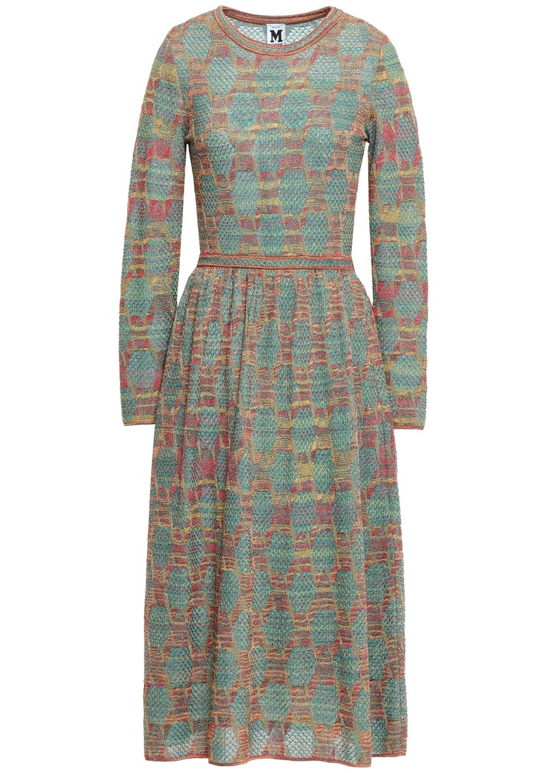 M Missoni Woman Metallic Crochet-knit Midi Dress Jade