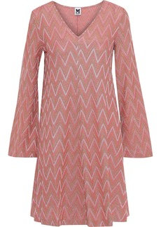M Missoni Woman Metallic Crochet-knit Mini Dress Antique Rose