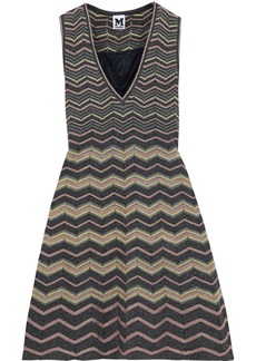 M Missoni Woman Metallic Crochet-knit Mini Dress Multicolor