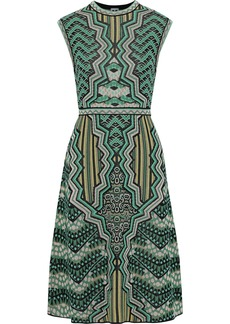 M Missoni Woman Metallic Jacquard-knit Dress Green