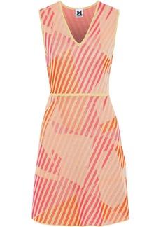 M Missoni Woman Metallic Jacquard-knit Dress Peach