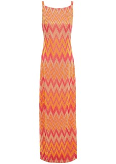 M Missoni Woman Metallic Jacquard-knit Maxi Dress Orange