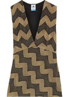 M Missoni Woman Metallic Jacquard-knit Top Gold