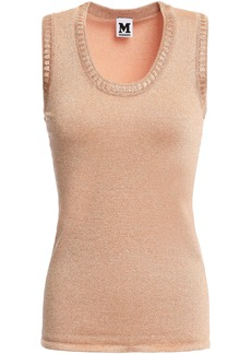 M Missoni Woman Metallic Crochet-knit Top Peach