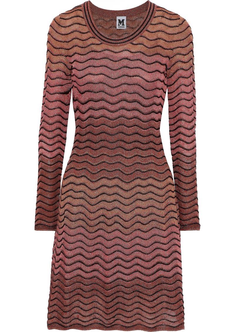 M Missoni Woman Metallic Ombré Crochet-knit Dress Multicolor