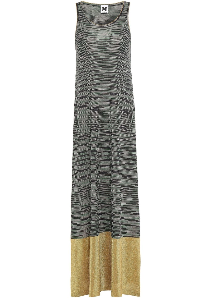 M Missoni Woman Metallic-paneled Crochet-knit Maxi Dress Gray