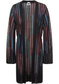M Missoni Woman Metallic Ribbed Crochet-knit Cardigan Black