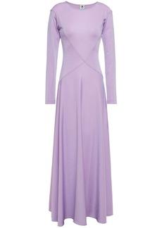 M Missoni Woman Metallic Stretch-knit Maxi Dress Lilac