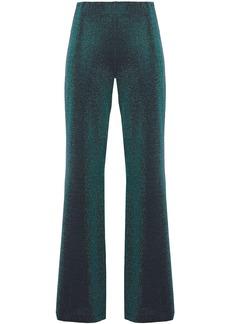 M Missoni Woman Metallic Stretch-knit Wide-leg Pants Emerald