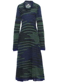 M Missoni Woman Crochet-knit Mohair-blend Turtleneck Midi Dress Forest Green