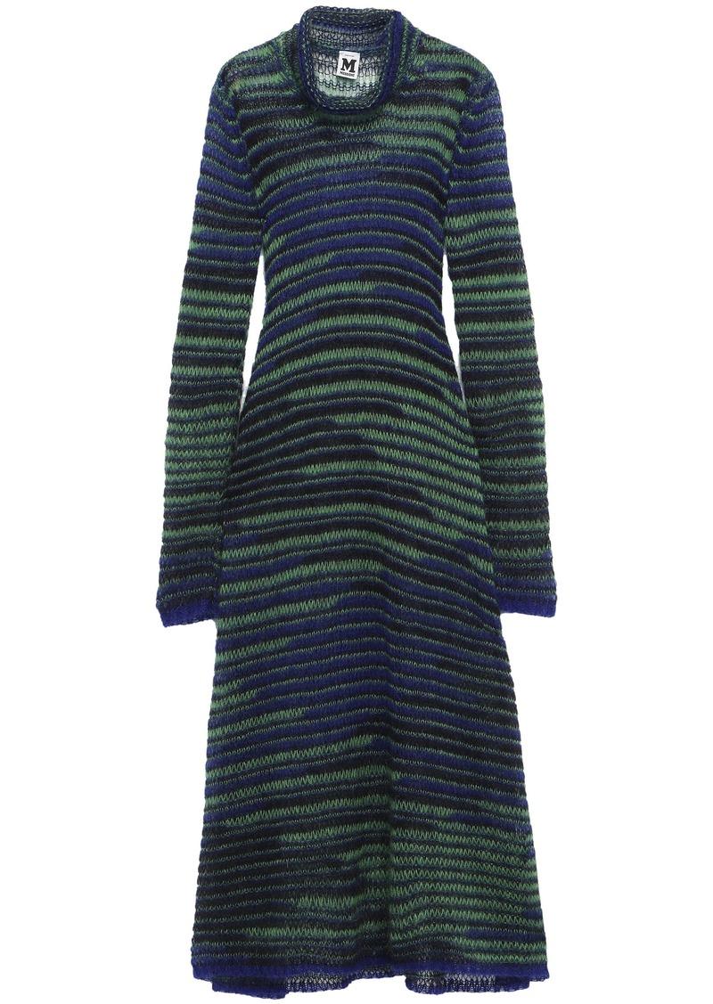 M Missoni Woman Mohair-blend Midi Dress Green