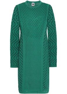 M Missoni Woman Open-knit Mini Dress Jade