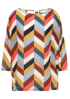 M Missoni Woman Oversized Printed Silk Crepe De Chine Blouse Multicolor