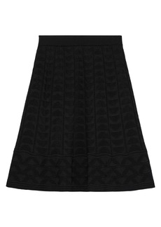M Missoni Woman Pleated Crochet-knit Wool-blend Skirt Black