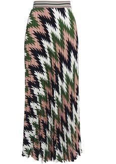 M Missoni Woman Pleated Printed Crepe De Chine Maxi Skirt Antique Rose
