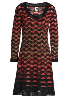 M Missoni Woman Pointelle-knit Wool-blend Dress Black