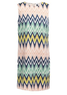 M Missoni Woman Printed Crepe De Chine Mini Dress Blush