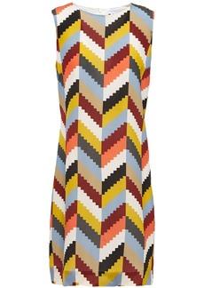 M Missoni Woman Printed Silk Crepe De Chine Mini Dress Multicolor