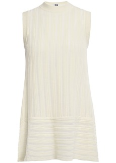 M Missoni Woman Ribbed-knit Tunic Ecru