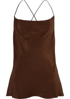M Missoni Woman Silk Crepe De Chine Camisole Chocolate