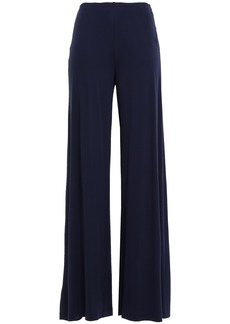 M Missoni Woman Stretch-jersey Wide-leg Pants Navy