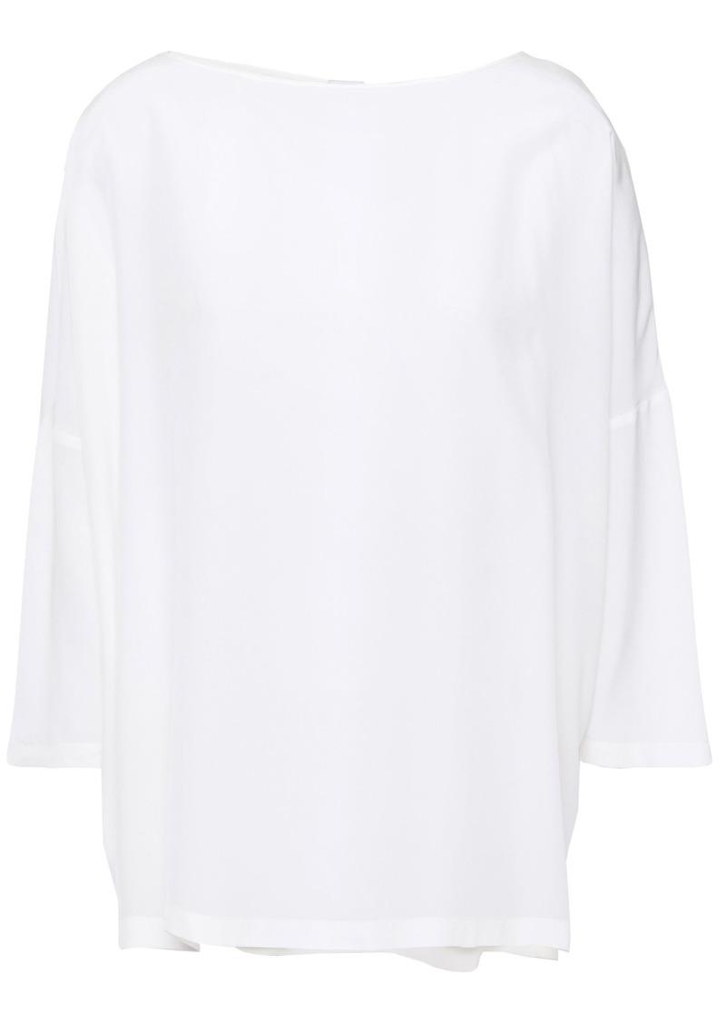 M Missoni Woman Washed-silk Blouse White