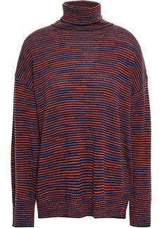 M Missoni Woman Wool Turtleneck Sweater Plum