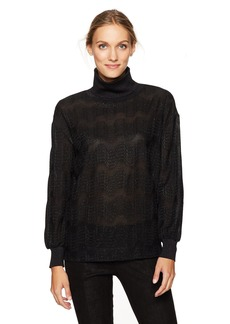 M Missoni Women's Lurex Jersey Turtleneck no Black L