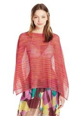 M Missoni Women's Lurex Zig Zag Mesh Poncho Cover Up A – Saffron