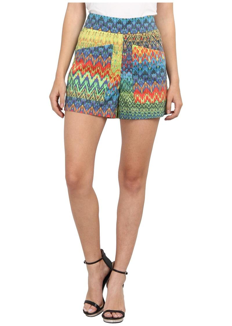 M Missoni Zig Zag Print Cotton Stretch Shorts