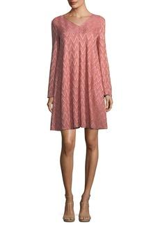 M Missoni Zigzag-Jersey Swing Dress
