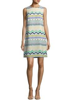 M Missoni Zigzag-Print Sleeveless Silk Dress