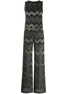 M Missoni metallic chevron-pattern jumpsuit