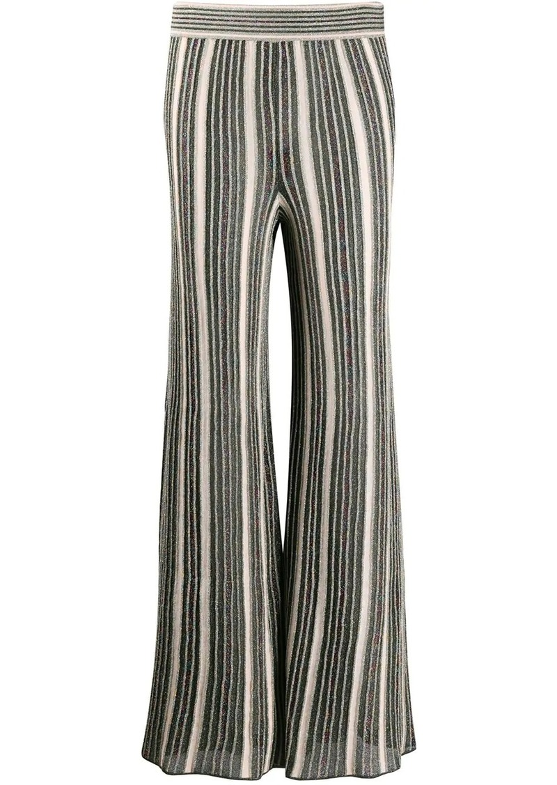 M Missoni metallic knit flared trousers