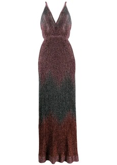 M Missoni metallic knitted long dress