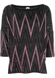 M Missoni metallic knitted top