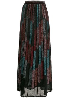 M Missoni metallic pleated skirt