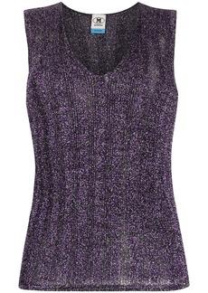 M Missoni metallic ribbed-knit top