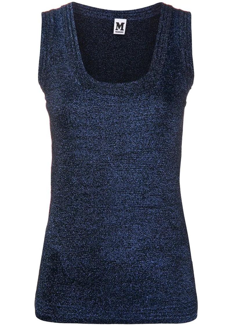 M Missoni metallic scoop neck vest