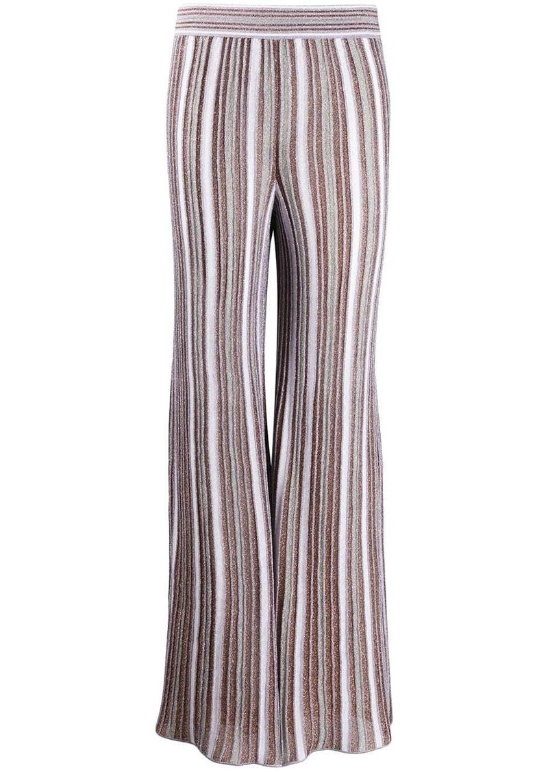 M Missoni metallic stretch flared trousers
