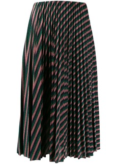 M Missoni metallic stripe midi skirt